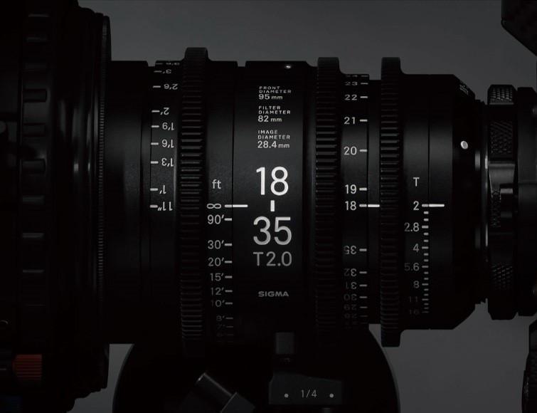 SIGMA Cine-Objektive zeichnen sich durch höchste optische Leistung und kompaktes Design aus.
