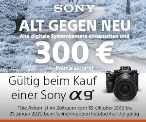 Sony Alpha 9 ALT GEGEN NEU Wechselbonus